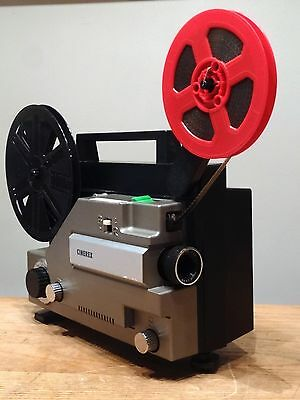 SUPERB Cinerex 727 Dual Format 8mm Cine Projector GUARANTEED WORKING Boxed