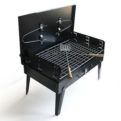 Portable Folding BBQ Barbecue Grill Charcoal Outdoor Garden Kitchen Camping Gas