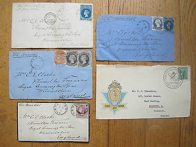 Australia 5 old covers including South Australia