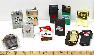 Vintage Marlboro Winston Cigarette Salem Magna Lighter Lot Butane + Fluid Styles