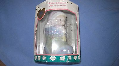 PRECIOUS MOMENTS BRIGHTEN UP ORNAMENT BY ENESCO  Boy In Stocking