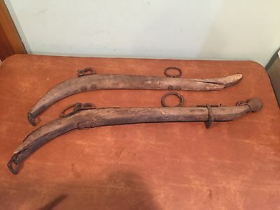 Pair of Antique Wooden Draft Horse Hames