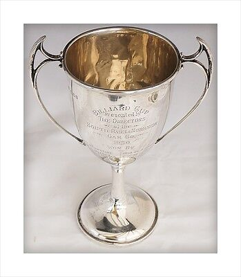 Sterling Silver Billiards Trophy Cup. South Bank & Normanby Gas Co Middlesbrough