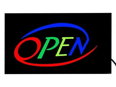"""Bright, Colorful & Flashing """"OPEN"""" Neon LED Display Shop & Window Sign UK Stock"""