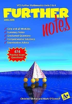 Further Mathematics Notes VCE Units 3 and 4 by A+ Publishing