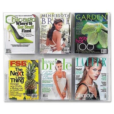Safco Clear2c Magazine Display Rack 5667CL
