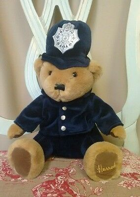 "Harrods Teddy Bear Police Knightsbridge London Bobby Stuffed 12"" Plush Toy"