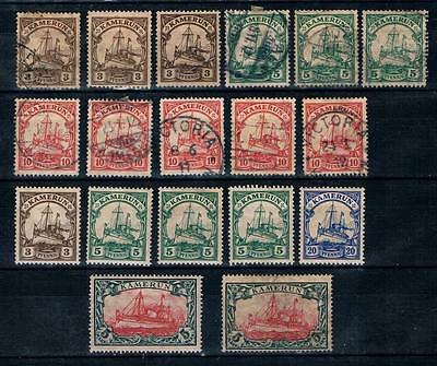 Cameroun 1905-18 Kamerun Germany Protectorate used & MH Lot Cameroon Yacht.