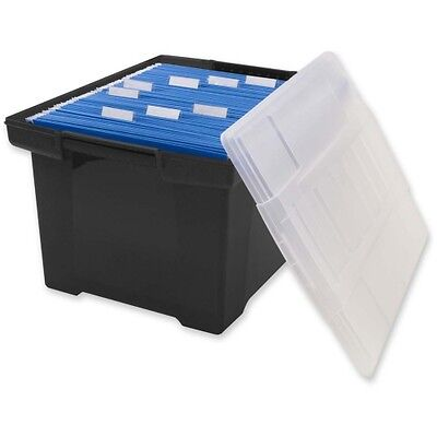 Storex Hvy-duty Plastic Stackable File Totes 61528B06C