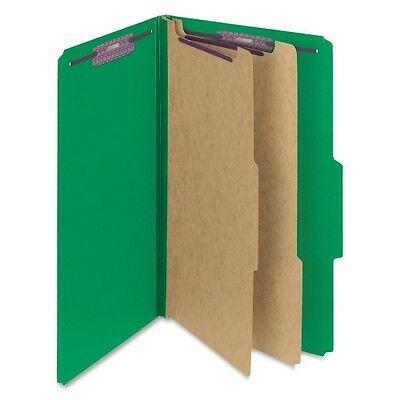 Smead 19033 Green Colored Pressboard Classification Folders with SafeSHIE 19033