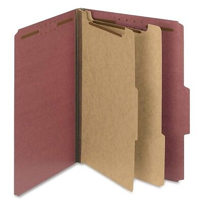 Smead 14024 Red 100% Recycled Pressboard Colored Classification Folders 14024