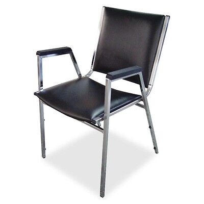 Lorell Plastic Arm Stacking Chair 62504
