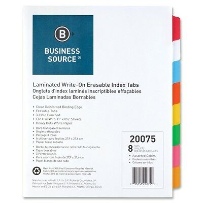 Business Source Laminated Tab Index 20075