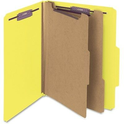 Smead 14034 Yellow Colored Pressboard Classification Folders with SafeSHI 14034