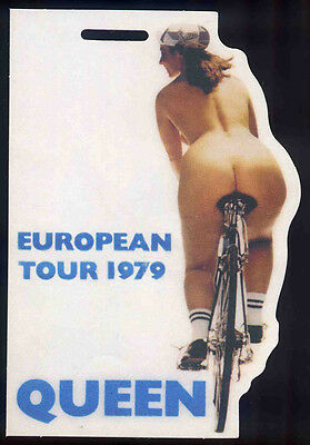Queen Repro 1979 Fat Bottomed Girls Laminated Pass . Freddie Mercury