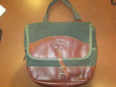 Vintage Orvis Battenkill Shoulder Bag Early 1990s Very Nice Leather Green Canvas
