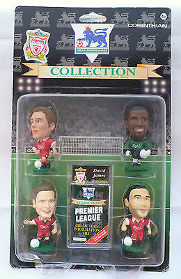 Corinthian - LIVERPOOL football Figures; 4 Pack (1995), Blister Pack
