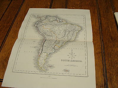1850's appletons modern atlas engraved by J. Archer-----SOUTH AMERICA