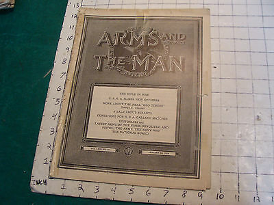 Vintage Magazine: ARMS and the MAN: NRA-1918 jan 26; Marines back cover,