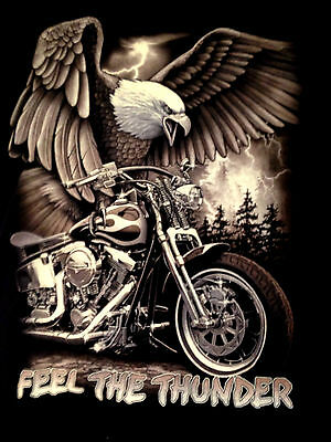 Harley-Davidson Motorcycle print Eagle Black 100cotton t-shirt sizes  M-L-XL-2XL
