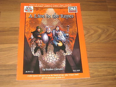 d20 A Lion in the Ropes Adventure 2001 Troll Lord Games SC TLG 1401