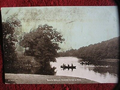 Edwardian 1906 Post card of Builth Wells - complete with half penny stamp