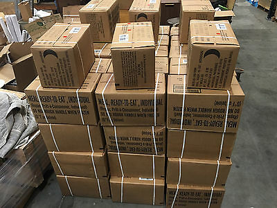 Military MRE Case (B) 2016 Inspection Dates FREE SHIP