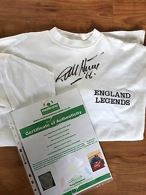 Signed Geoff Hurst Shirt With Papers & COA 1966 World Cup Winner