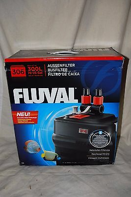 Fluval 306 aquarium filter external canister to 70 gallons New in sealed box.