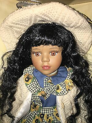 Angelina Collection by Timeless Treasures Black Pocelain Doll