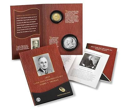 2015 Harry S. Truman Coin And Chronicles Coin Set with reverse proof dollar !