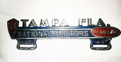 Vintage License Plate Topper  Tampa FLA. Cadillac - Excellent Condition