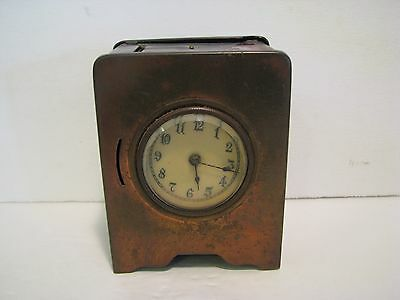 Antique CLOCK BANK   METAL RARE