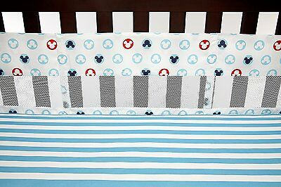 Disney Baby Bedding Mickey Mouse  Secure-Me Crib Liner