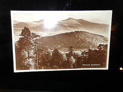 BRECONSHIRE - Postcard of Brecon Beacons REAL PHOTO RP SEPIA VALENTINES 1-D
