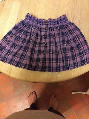 fat face 10-11years checked girls mini skirt
