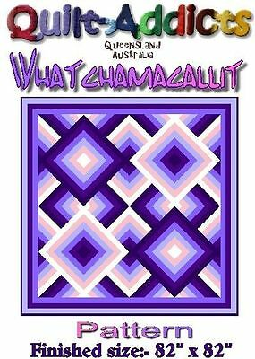 WHATCHAMACALLIT - Quilt-Addicts pattern for patchwork quilt