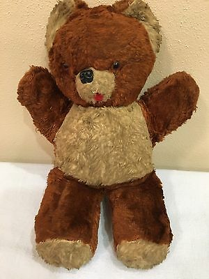 Antique Vintage Stuffed Animal Brown Teddy Bear Old Collection