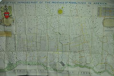 Map of the Improved Part of the Province of Pennsylvania in America A