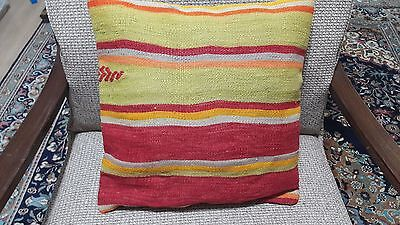 Hand Made Kilim Pillow, Cushion Cover, 16'x16' inch Pillow Cover