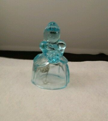 Imperial Glass Victorian Bell in Blue  from Heisey Mold