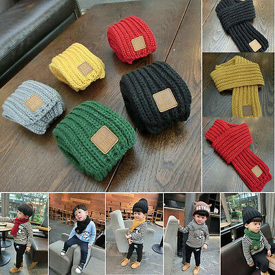 Fashion Kids Children Knitting Wool Scarf Warmer Collar Baby Boys Snood Velet