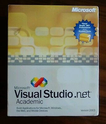 Microsoft Visual Studio .NET Professional ACADEMIC 2003 (Retail) NEW SEALED NOS