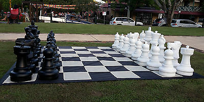 New Giant Outdoor PVC Chess Set with Mat
