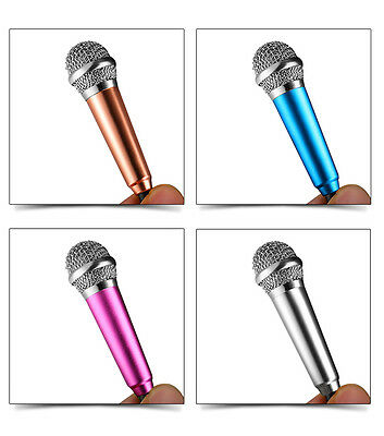 Gold Fashion Portable Mini Microphone Mic For IPhone IOS Android Smartphone KTV