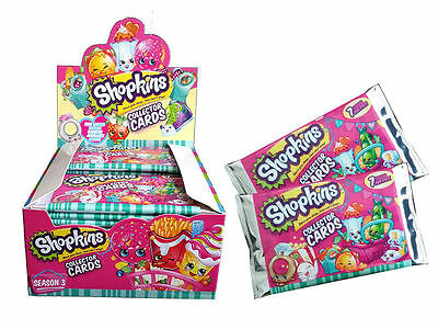 SHOPKINS Season Series 3 S3 Collector Trading Cards Sealed Box - 36 Packs