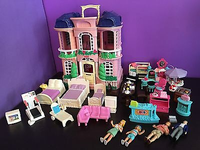 Fisher Price - Loving Family - Sweet Streets - House & Huge Furniture / Doll Lot