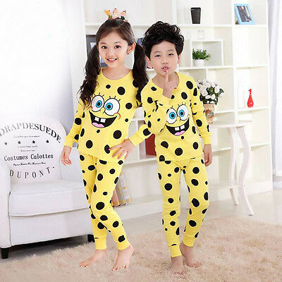 1set Cartoon Children's Thermal Underwear Sets Comfortable Soft Pajamas