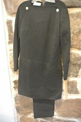 True Vintage Pant Suit Black Outift Pants Size 12 Kimberly 100% Virgin Wool EUC