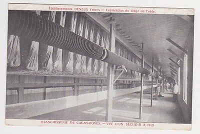France Textile Loom Factory Scene Early 1900's Postcard